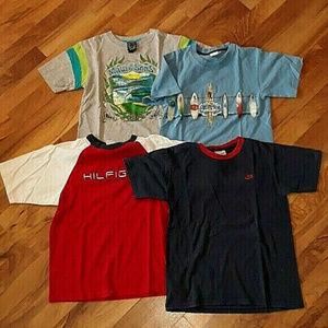 Lot 4 Boys shirts size Medium Tommy Nike Maui Bin1